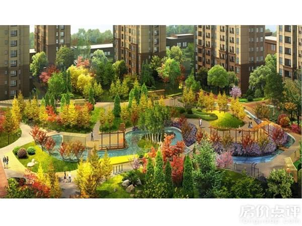 同时灌木丛和乔木的分布增加了园林的层次感和景观深