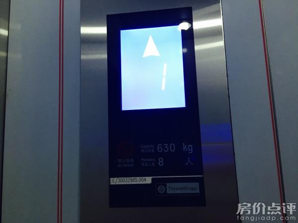 一楼,三楼,电梯品牌为蒂森克虏伯,为世界钢铁大王:德国蒂森克虏伯集团